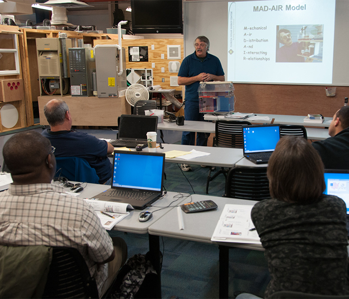 training classes at the Florida Solar Energy Center